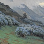 John Marshall Gamble, Morning Mists, Wild Lilac, oil, 20 x 30. Estimate: $40,000-$60,000.