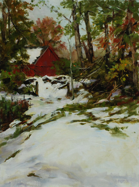 Kathy Anderson | Halloween Snow, oil, 16 x 12.Kathy Anderson | Halloween Snow, oil, 16 x 12.