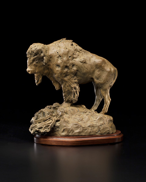 Herb Mignery, His Destiny Foretold, bronze, 10 x 9 x 9.