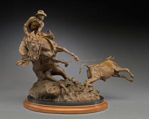 Herb Mignery, It's A Cinch. It's Trouble., bronze, 21 x 30 x 18.
