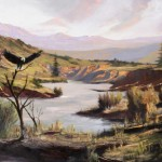 John Darby, Eagle's Country, oil, 24 x 48.