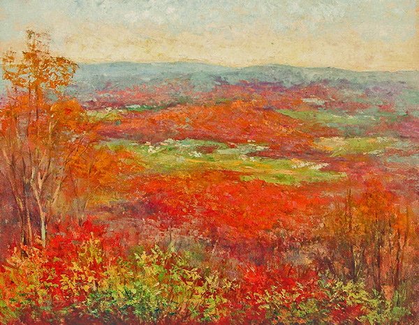 Julia Lesnichy, Mountains in October, oil, 24 x 30.