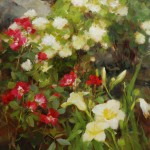 Kathy Anderson | Lilies and Roses, oil, 22 x 18.