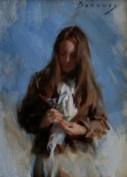 Michelle Dunaway   Autumn Wildflowers, oil, 8 x 6.