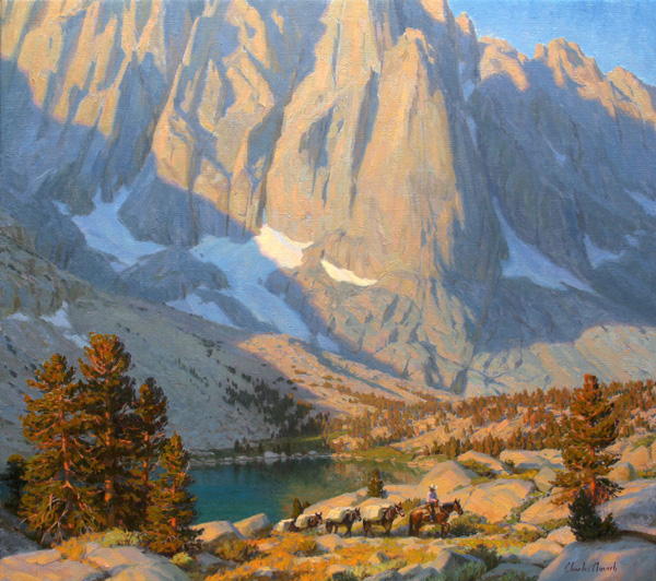 Charles Muench | In the Land of Giants, oil, 32 x 36.