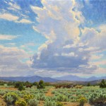 Charles Muench | Late Summer Sotrm, oil, 24 x 24.