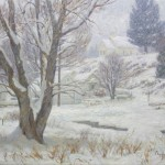 Charles Muench | Veiled in Winter, oil, 24 x 30.