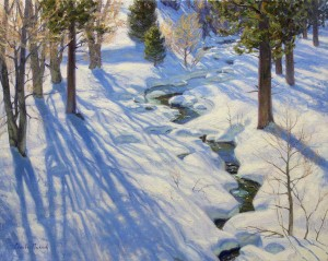 Charles Muench | Winter Shadows, oil, 24 x 30.