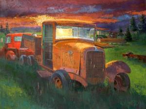 Martin Lambuth, American Idle, acrylic, 36 x 48.