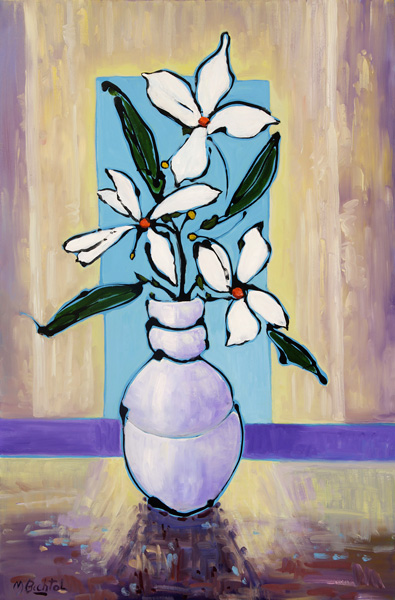 Mary Bechtol, White With White 2, oil, 36 x 24.