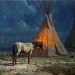 Martin Grelle, Night Glow, oil, 16 x 20.