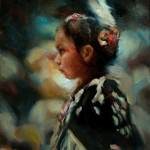 Michelle Dunaway | Native Dancer, oil, 12 x 9.