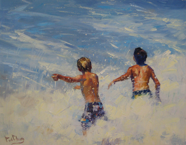 Paul Cheng   New Waves, oil, 20 x 24.