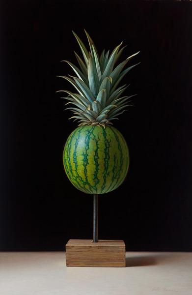 Scott Fraser | Pineapple Imposter, oil, 15 x 22.