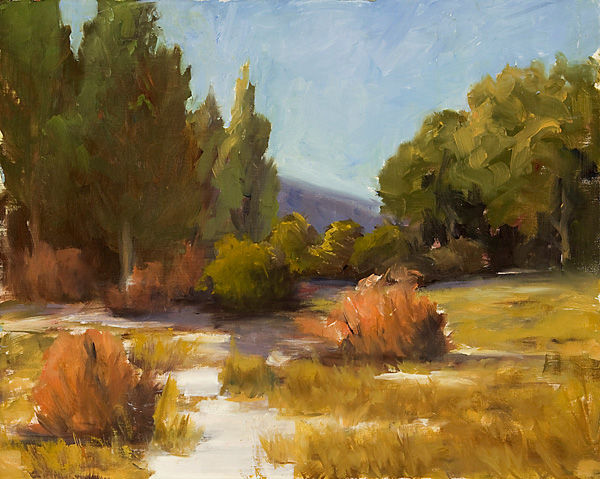 Sandra Pelfrey, High Country Spring, oil, 16 x 20.