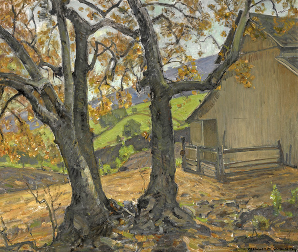 William Wendt, The Ranch, oil, 30 x 36. Estimate: $60,000-$80,000.