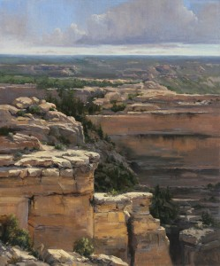 Linda Glover Gooch, Cliff Dweller, oil, 24 x 20.