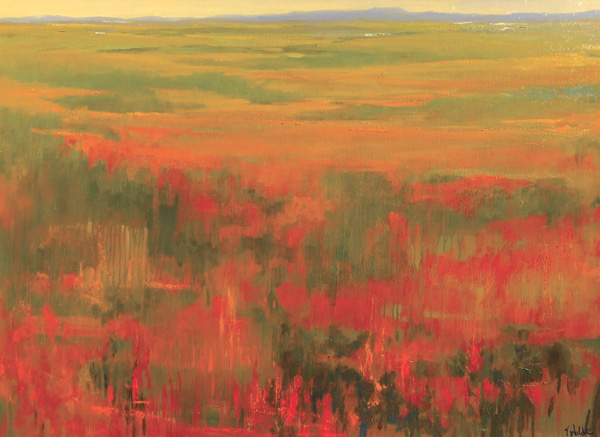 Teruko Wilde, Autumn Field II, oil, 30 x 40.