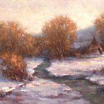 Todd A. Williams, Medicine Creek, Frontier County, oil, 12 x 16.