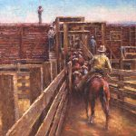 Todd A. Williams, Hyannis Stock Yards, Grant County, oil, 12 x 16.