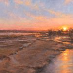 Todd A. Williams, Platte River Drought, 2012, Hall County, oil, 10 x 20.