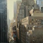 44th Street, oil, 48 x 36.
