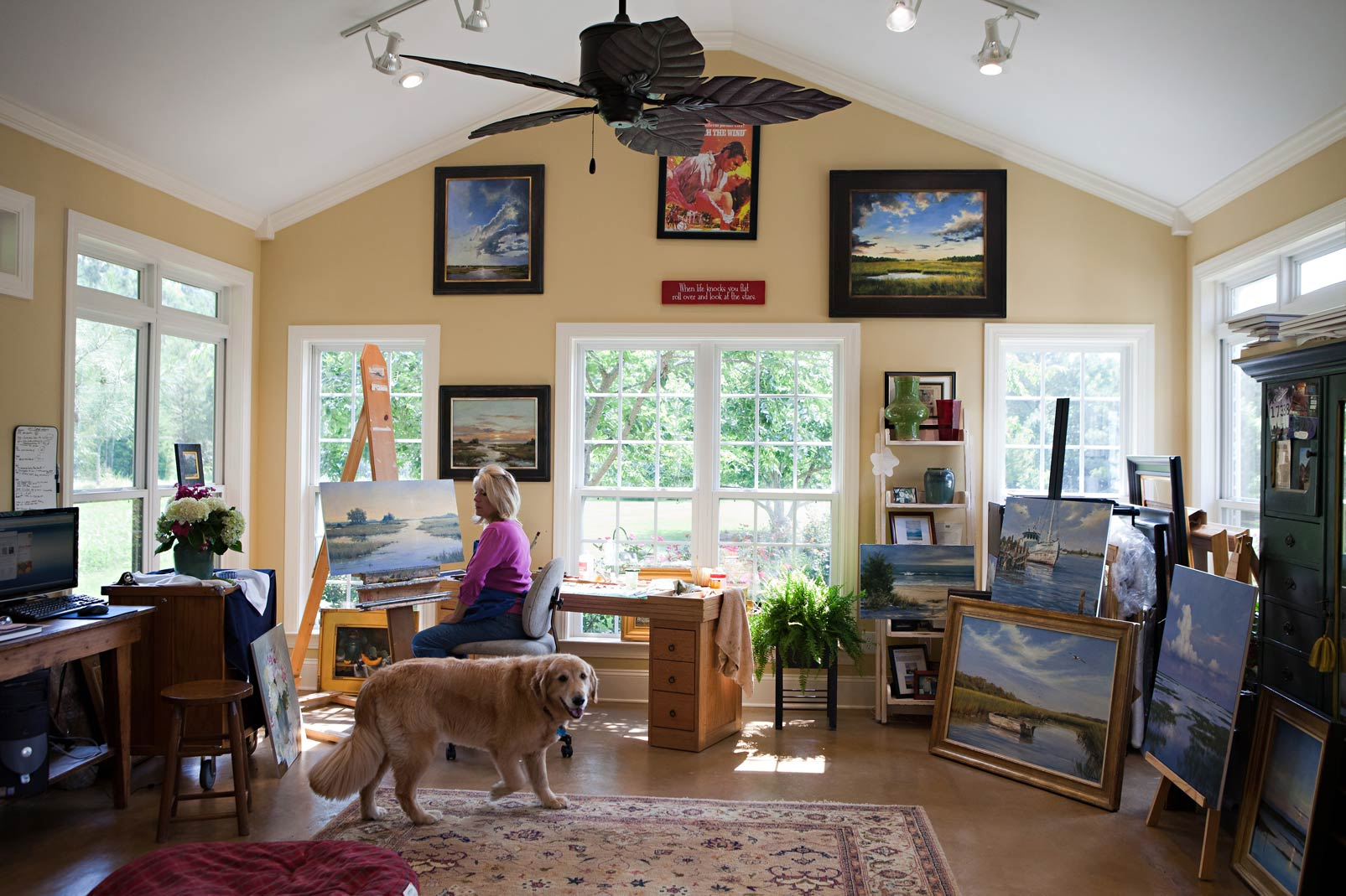 Paula b holtzclaw - Home art studio ...