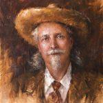 Todd A. Williams, William Frederick (Buffalo Bill) Cody, Lincoln County, oil, 20 x 16.