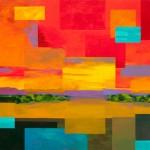 Mark Bowles, Desert Sunset, acrylic, 60 x 72.