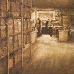 Todd A. Williams, Hardy Glove Factory, 1902, Nuckolls County, oil, 16 x 12.