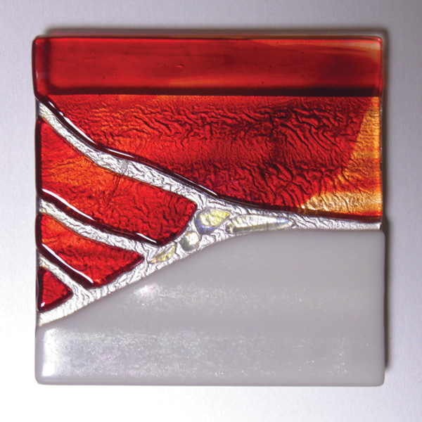Doug Gillis, #761, glass, 12 x 12.