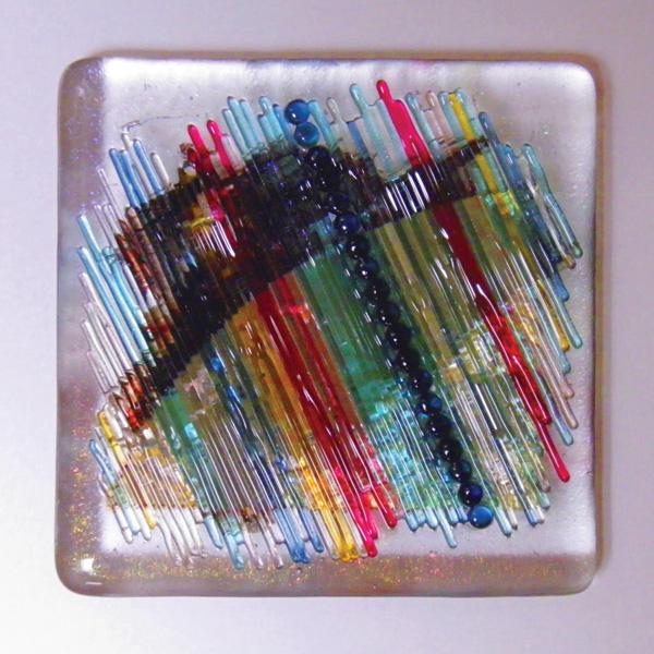 Doug Gillis, #758, glass, 12 x 12.