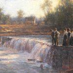 Todd A. Williams, Nemaha River Falls, Richardson County, oil, 12 x 16.