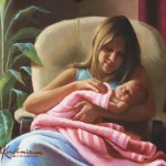 Jon Kardamis, A Mother's Tender Love, oil, 20 x 24.