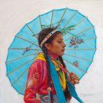 Ann Hanson, A Native Gem, oil, 12 x 12.