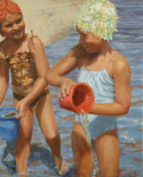 Abigail VanCannon, Summertime, oil painting
