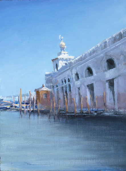 William Berra, Dogana de Mare, Venice, oil, 12 x 9. (Dogana di Mare)