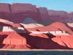 Logan Maxwell Hagege, Cast Shadows, Vermillion Cliffs, oil, 12 x 16.