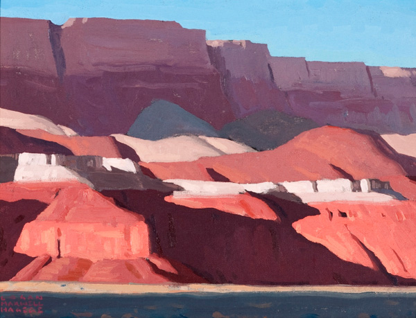 Logan Maxwell Hagege, Cast Shadows, Vermillion Cliffs, oil, 12 x 16.