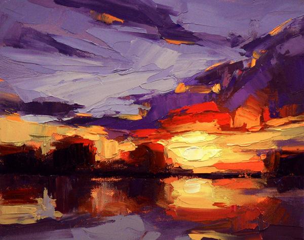 David Mensing, Submit, oil, 8 x 10.