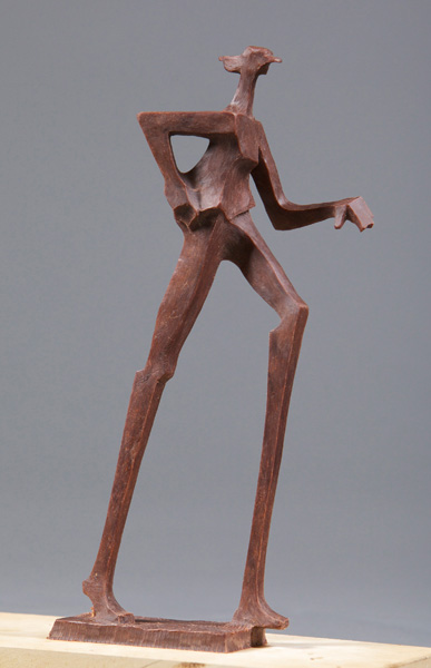 Wayne Salge, Walk On, bronze, 13 x 5 x 2.