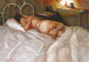 Ron Barsano, Alone, oil, 28 x 40.