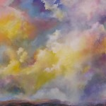 Angus Macpherson, Amber, acrylic, 32 x 32.