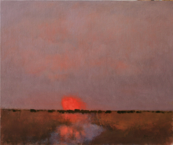 Nancy Bush, At Sunset, oil, 20 x 24.
