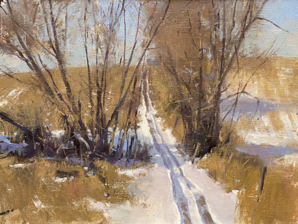 Marc Hanson, ATV Trail, oil, 6 x 8.