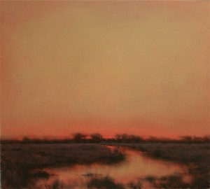 Nancy Bush, Autumn Twilight, oil, 36 x 40.