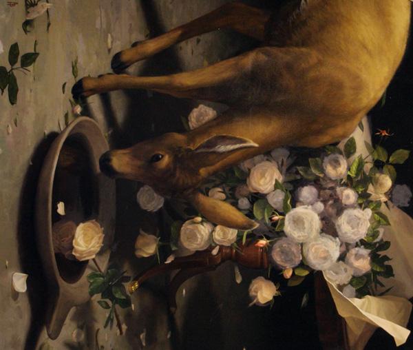 Aaron Brent Harker, Drifter, oil, 28 x 31.