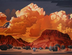 David Jonason, Abiquiu Turnout, 30 x 40.