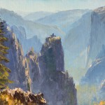 James McGrew, Above Sentinel, oil, 6 x 8.