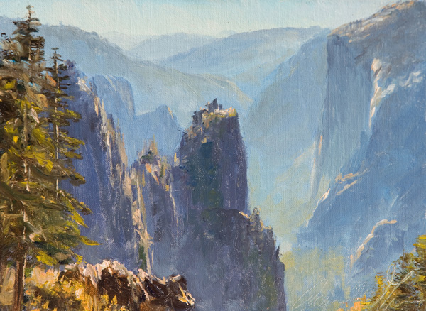 James McGrew, Above Sentinel, oil, 6 x 8.